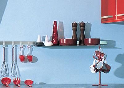 glossy: αξεσουάρ κουζίνας από αλουμίνιο για τοίχο ή πλάτη