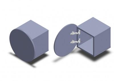 nuvola: κυκλικό κουτί