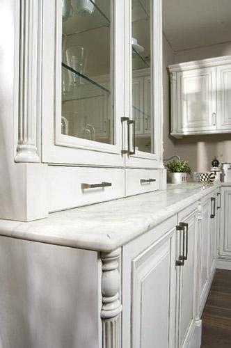 pearl: marble worktop