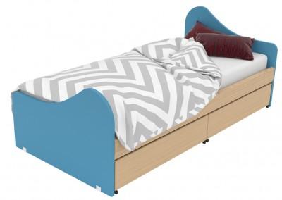 surf: tatoo: μονό παιδικό κρεβάτι πλάτους 100cm