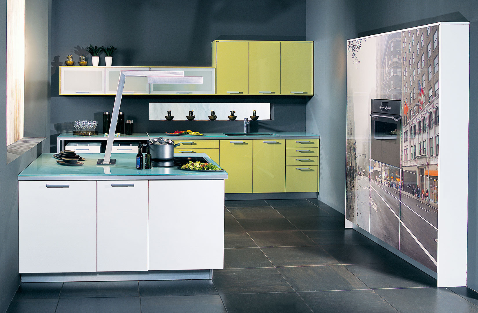 view modern kitchen