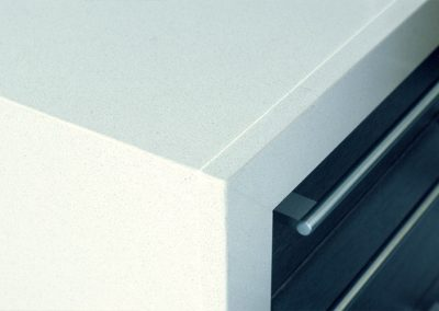work: quartz worktop detail